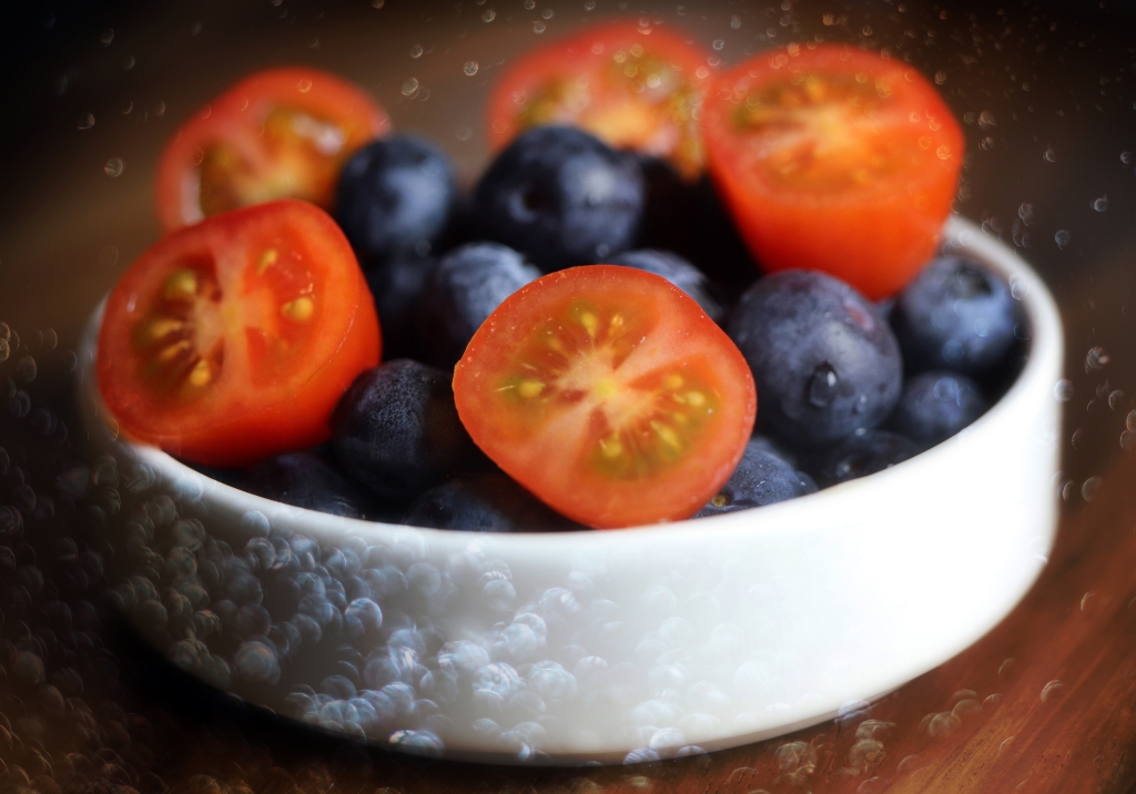 Tomatoes and blueberries are so healthy for you!